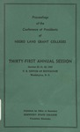 President 31th Annual Conference - Oct 1953 by Prairie View State College