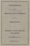 President 13th Annual Conference - Oct 1935 by Prairie View State College