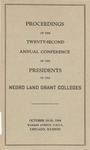 President 22nd Annual Conference - Oct 1944 by Prairie View State College