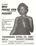 Miss Prairie View A&M April 23, 1981 by Prairie View A&M University