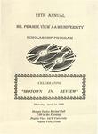 Mr. Prairie View A&M Scholarship Pageant April 16, 1998 by Prairie View A&M University