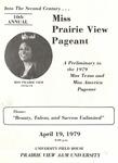 Miss Prairie View Pageant April 19, 1979 by Prairie View A&M University