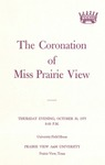 Coronation of Miss Prairie View October 30, 1975 by Prairie View A&M University