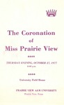 Coronation of Miss Prairie View October 27, 1977 by Prairie View A&M University