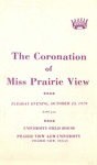 Coronation of Miss Prairie View October 23, 1979 by Prairie View A&M University