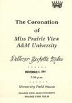 Coronation of Miss Prairie View November 8, 1984 by Prairie View A&M University