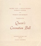 Coronation of Miss Prairie View January 9, 1965 by Prairie View A&M College