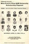 Miss Prairie View Pageant Announcement 1984 by Prairie View A&M University