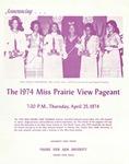 Miss Prairie View Pageant Announcement 1974 by Prairie View A&M University