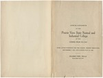 Annual Catalog - The School Year 1921-1922 by Prairie View State Normal & Industrial College