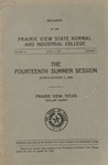 Summer Session - The School Year 1924 by Prairie View State Normal and Industrial College