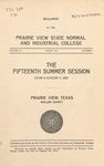Summer Session - The School Year 1925 by Prairie View State Normal and Industrial College