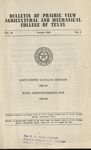 Bulletin - The School Year- 1947-49 by Prairie View Agricultural And Mechanical College