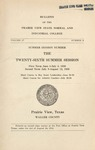 Summer Session - The School Year 1936 by Prairie View State Normal and Industrial College