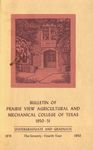Bulletin - The School Year- 1949-51 by Prairie View Agricultural And Mechanical College