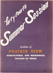 Summer Session - The School Year 1954 by Prairie View Agricultural and Mechanical College