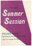 Summer Session - The School Year 1959 by Prairie View Agricultural and Mechanical College