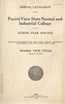Annual Catalog - The School Year 1918-1919 by Prairie View State Normal And Industrial College