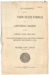 Annual Catalog - The School Year 1902-1903