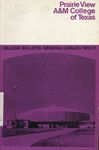 General Catalog - The School Year 1970-1971 by Prairie View Agricultural And Mechanical College