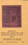Bulletin - The School Year- 1952- 53 by Prairie View Agricultural And Mechanical College