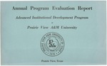 Annual Program Evaluation Report - October 1, 1975