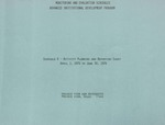 Monitoring and Evaluation Schedules Advanced Institutional Development Program - October 9, 1976