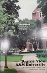 Graduate Catalog - The School Year 1988-1989 by Prairie View A&M University