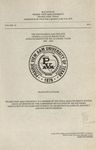 Graduate Catalog - The School Year 2002-2003 by Prairie View A&M University