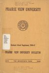 Graduate School Supplement - The School Year 1946-1947 by Prairie View University