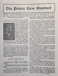 The Prairie View Standard - January 1933 by Prairie View State Normal and Industrial College