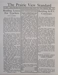 The Prairie View Standard - September 1934 by Prairie View State Normal and Industrial College