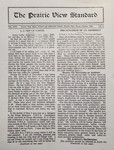 The Prairie View Standard - October 1929 by Prairie View State Normal and Industrial College