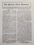 The Prairie View Standard - October 1929
