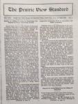 The Prairie View Standard - November 1929