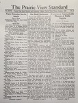 The Prairie View Standard - January 1936 by Prairie View State Normal and Industrial College