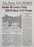 The Prairie View Standard - September 1939 by Prairie View State Normal and Industrial College