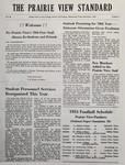 The Prairie View Standard - September 1954 by Prairie View Agricultural and Mechanical College of Texas
