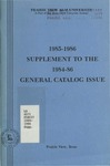 Undergraduate Supplement General Catalog - The School Year 1984-1986 by Prairie View A&M University