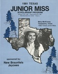 Miss Texas Junior Scholarship Pageant January 24, 1981 by Prairie View A&M University