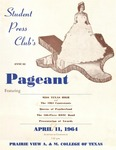 Student Press Club's Annual Pageant April 11, 1964 by Prairie View A&M College