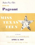 Student Press Club's Annual Pageant April 8, 1967 by Prairie View A&M College
