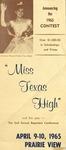 Miss Texas High Contest Announcement 1965 by Prairie View A&M College