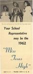 Miss Texas High Contest Announcement 1962 by Prairie View A&M College