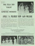 Miss Texas Teen Pageant Announcement 1967 by Prairie View A&M College