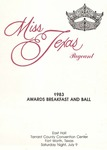 Miss Texas Pageant 1983 Awards Breakfast and Ball Program by Prairie View A&M University