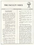 The Faculty Voice - April 1986 by Prairie View A&M University