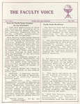 The Faculty Voice - May 1986